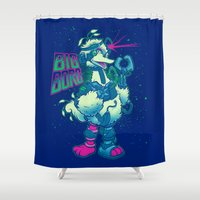 muppet Shower Curtains featuring BIG BORG by BeastWreck
