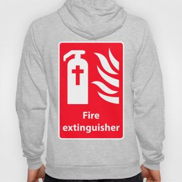 Fire Extinguisher For Hell - Christian Sign Illustration Hoody
