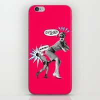 butt iPhone & iPod Skins featuring Butt Jab by victor calahan