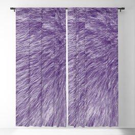 Lollipop Purple Fur Blackout Curtain