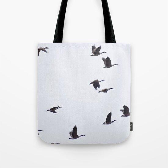 Birds -Scandinavian Minimalist Art Tote Bag