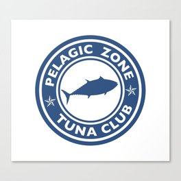 Bluefin Tuna Club logo Canvas Print