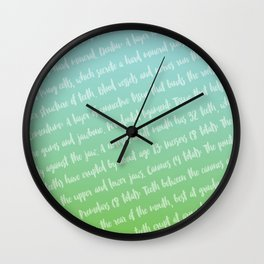 Dental Jargon Art Wall Clock