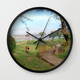 Luxor Egypt Landscape with Zir Wall Clock