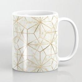 Modern gold and marble geometric star flower image Coffee Mug