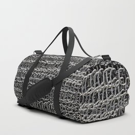 Silver Chain Maille Duffle Bag