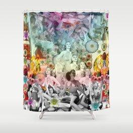 Rainbow Orgy Shower Curtain