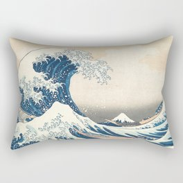 The Great Wave off Kanagawa by Katsushika Hokusai from the series Thirty-six Views of Mount Fuji Rectangular Pillow