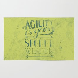 Agility is your secret weapon Rug
