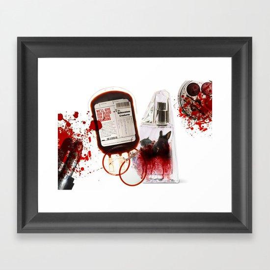 We'll give our blood for good branding Framed Art Print