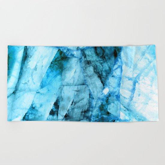 Blue crystal Beach Towel