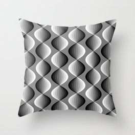 Abstract geometric grayscale pattern  Throw Pillow