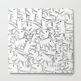 Line art - Crocodile Metal Print
