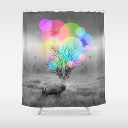 Calm Within the Chaos Shower Curtain
