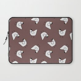 the happy french hen in lilac greige Laptop Sleeve