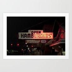 24-Hour Burgers Art Print