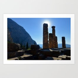 Searching for the Oracle of Delphi Art Print