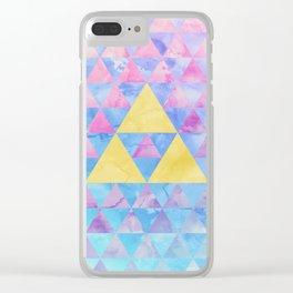 Zelda Geometry Clear iPhone Case