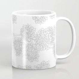 Butterfly Blue Flower Pattern Coffee Mug