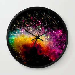 Fireworks at Addison Texas Kaboom Town Wall Clock
