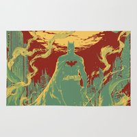 gotham Area & Throw Rugs featuring Gotham Knight by Hai-ning