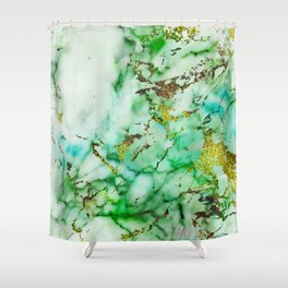 Marble Effect #3 Shower Curtain