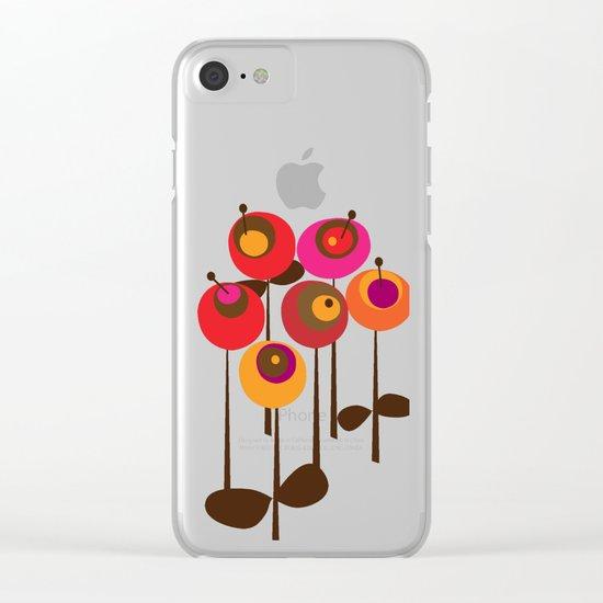 Summer Joy Clear iPhone Case