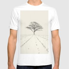 Winter Field Mens Fitted Tee MEDIUM White