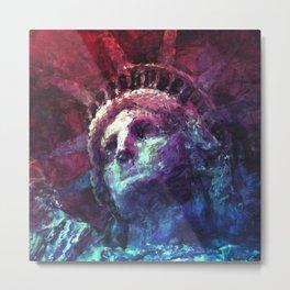Patriotic Liberty Metal Print
