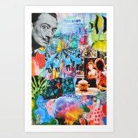 salvador dali Art Prints featuring Salvador Dali by John Turck
