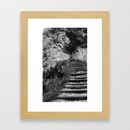 The middle path Framed Art Print