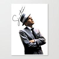 frank sinatra Canvas Prints featuring Frank Sinatra by BAS~
