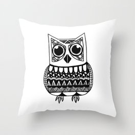 Abstract Owl Throw Pillow