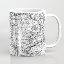 Vintage Map of Austria (1856) BW Coffee Mug