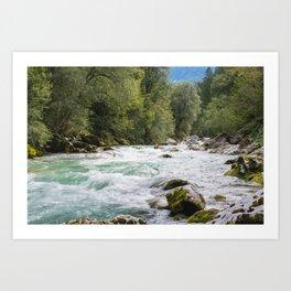 The Emerald River Art Print