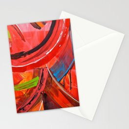IBIZA - colorful abstract painting Stationery Cards