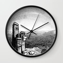 Mask (Backpacking the PCT) - Inktober 2017 Wall Clock