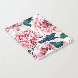 Pattern pink vintage peonies Notebook