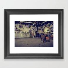 Naco's Garage Framed Art Print