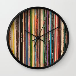 Alternative Rock Vinyl Records Wall Clock