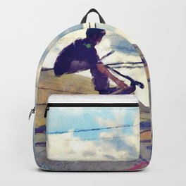 Graffitti Glide Stunt Scooter Sports Artwork Backpack