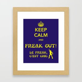 Freak Out! (late meme is late) Framed Art Print