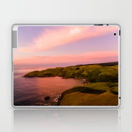 jacks bay new zealand beautiful colors at sunset farmland Laptop & iPad Skin