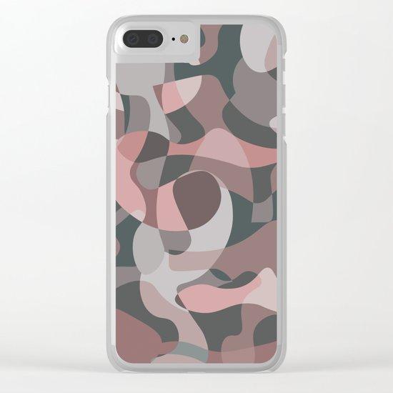 Camouflage XXXVIII Clear iPhone Case