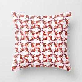 Graphic Elk 04 Swedish Dala Pair Multiples Throw Pillow