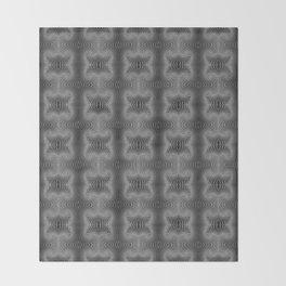 Varietile 37 B+W (Repeating 2) Throw Blanket