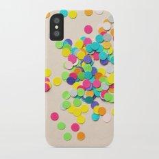 Confetti Slim Case iPhone X