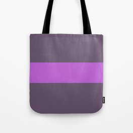 Pink stripe on brown background Tote Bag