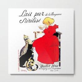 "Steinlen Poster ""Sterilized pure milk of the Vingeanne"" ×1 Metal Print"