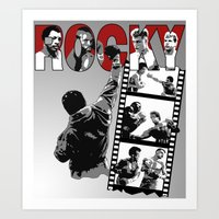 saga Art Prints featuring Rocky Saga by The Black Lodge